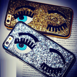 Discount x lashes - Flirting Eyes case For iPhone X 8 7 6 6s Luxury Chiara Ferragni Creative Big Eyes Lashes Case For iPhone 7 7 Plus