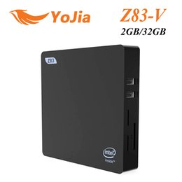 VONTAR Mini PC Intel Cherry Trail Atom x5-Z8350 Support pour Windows 10 Linux 2 Go 32 Go HDMIVGA Sortie double Bluetooth 4.0 USB3.0