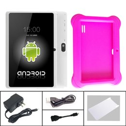 Cheap 8gb tablets online shopping - Q88 Inch Android Tablet PC ALLwinner A33 Quade Core Dual Camera GB MB Capacitive Cheap Tablets with Q8 silicone case