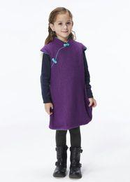 $enCountryForm.capitalKeyWord NZ - Handmade Girls Wool Dress Overcoat Chinese Cheongsam Qipao Kids Clothing #206