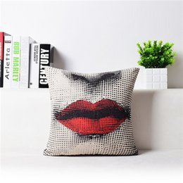 Discount sexy weaves - HotThrow Pillow Case Black White Sexy Women Square Cover Home 3D Pattern Pillowcase 18 styles 45cm*45cm