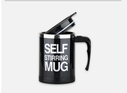 lazy mug Australia - Fashion New 400ML Stainless Lazy Self Stiffing Mug Auto Mixing Tea Coffee Cup Office Home Use Christmas Gifts Cool