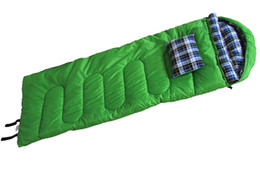 $enCountryForm.capitalKeyWord Australia - Outdoor camping flannel envelope sleeping bag manufacturer wholesale prices with likewise pillow Autumn and winter to keep warm sleeping bag