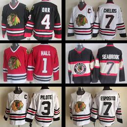... CCM Vintage Throwback Jersey Throwback Stitched Chicago Blackhawks  Hockey jerseys 1 Glenn Hall 3 Pierre Pilote 4 Bobby Orr Brent ... 8c4fb1aff