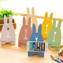 Discount wooden stand for tablets - Rabit Design Phone Stand Cute Wooden Universal Holder Cell Phone Kickstand For Tablet ipad iphone 7 7plus Samsung Smartp