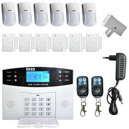 Intelligent Gsm Alarm Australia - LCD RU SP EG FR IT Voice Wireless SMS Home GSM Alarm system House intelligent auto Burglar Door Security Alarm Systems