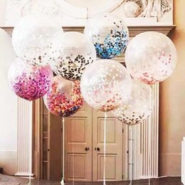 36inch Clear Latex Balloons Giant Confetti Blasting Helium Float Balloon Birthday Christmas Party Wedding Decoration Childrens Gift