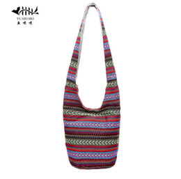 be6dbaffe7d Hippie Bags Canada - Wholesale- Bohemian Women Shoulder Crossbody Bag Gypsy Hobo  Hippie Bucket Messenger