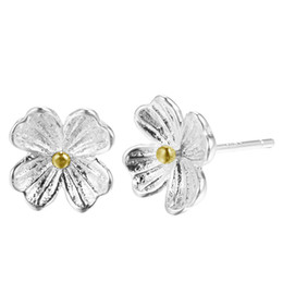$enCountryForm.capitalKeyWord UK - 5 pairs lot 925 Sterling Silver Elegant Flower Cherry Blossom Stud Earrings for Women Christmas Gift New Jewelry Pendientes Brincos