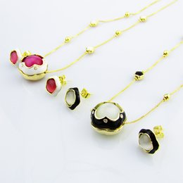 Earrings matching nEcklacEs online shopping - simp Fashion pendant Necklace set Earrings Set alloy Pendant Necklace fllower shape pendant with all match minimalist personality