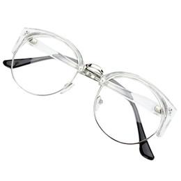 298c8c5b84 Al por mayor-Estilo Retro Mujeres Hombres Ronda Nerd Gafas Lentes claras  Gafas Marco de metal Colores: Transparente Blanco + Marco de plata