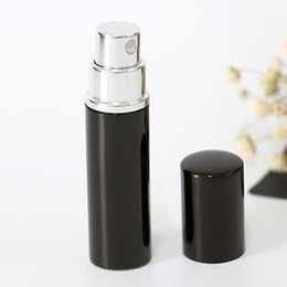 Wholesale Black color ML Hot Sale Mini Portable Travel Refillable Perfume Atomizer Bottle For Spray Scent Pump Case Empty Spray Bottles Home Fragranc