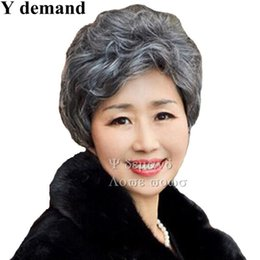Chinese  Fashion Sexy High quality Short Layered Fluffy Wig Dark Grey Cosplay For Ladies Pixie Cut Full Wigs manufacturers