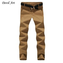 $enCountryForm.capitalKeyWord Canada - Wholesale- 2016 New Mens Casual Pants Fashion Slim Fit Business Cotton Trousers 8 Colors Plus Size:29-44 Free Shipping K049