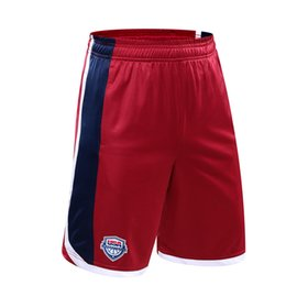 China Men USA Dream Team Basketball Shorts Loose Polyester Sport Training Active Shorts With Pockets For Male Big Size 5XL suppliers