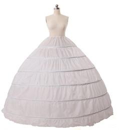 Wholesale 2017 In Stock High Quality Hoops Petticoat Crinoline Slip Underskirt For Wedding Dress Bridal Gown Petticoat