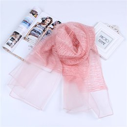 Soft Silk Scarf blue online shopping - 185cm cm silk feeling and cotton double layer scarf long scarf thin and soft