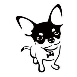 $enCountryForm.capitalKeyWord Canada - New Product Car Stickers Chihuahua Dog Vinyl Decal Cartoon Animal Bumper Motorcycle Funny Car Styling Graphics