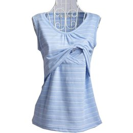 $enCountryForm.capitalKeyWord Canada - M-XXL Casual pregnancy shirts breastfeeding nursing tops striped cami tank maternity clothes for pregnant women soft cotton shirts wholsale
