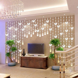 Wholesale 1M Modern Crystal Glass Waterdrop Curtain Window Curtains Living Room Wedding Decoration Beads Screen Inexpensive