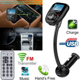 Good Bluetooth Handsfree Canada - Wholesale-2016 hot sale fashion Car Kit Handsfree Wireless Bluetooth FM Transmitter MP3 Player USB LCD Modulator very good