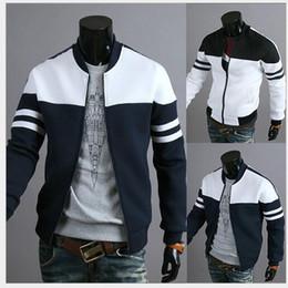 Crystal Designs Canada - Foreign trade hot men 's jacket fashion ribbon decoration stitching design jacket jacket J02