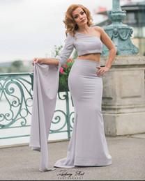 $enCountryForm.capitalKeyWord UK - One Shoulder Speaker Sleeves Formal Evening Dresses Two Pieces Mermaid Evening Gowns African Prom Gowns vestido de festa