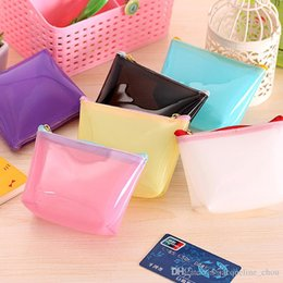 $enCountryForm.capitalKeyWord NZ - New arrival Candy color transparent coin purses Lovely contracted jelly glue Small zipper wallet mini bag 6 colors 0370