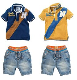 $enCountryForm.capitalKeyWord Australia - boys summer suits Polo shirt+jeans shorts two-pieces suit 2017 summer fashion style baby sets cotton high quality kid wear children clothing