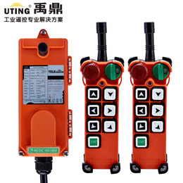 industrial cranes 2019 - Wholesale- Telecontrol F21-E2 radio remote control 2transmitter and 1receiver universal industrial wireless control for