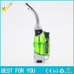 New weldiNg online shopping - 2017 new arrival GF Refillable gas lighters creme brulee torch jet lighter Torch lighters Flame Welding Gun Refillable lighter