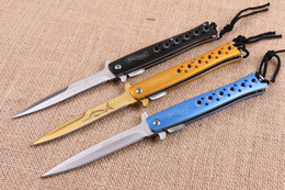 $enCountryForm.capitalKeyWord UK - 3 Colors Walther Steel Tactical Folding Knife 5Cr13Mov 57HRC Aluminum Handle Camping Hunting Survival Pocket Knife Military Utility EDC Tool