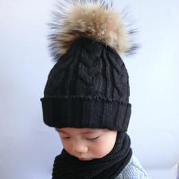 $enCountryForm.capitalKeyWord Canada - Children Fur Pompom Hat Baby Boys Girls Winter Beanie Hats Wool Knitted Caps For Kids 2017 Hot Sale