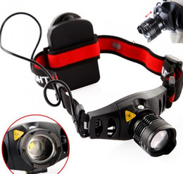 Headlight Focusing Canada - Wholesale-CREE Q5 600LM 4 Modes LED Headlight Headlamp Zoomable Focus Head Lamp Camping Spotlight Lantern For Hunting,Use AAA