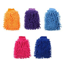 Chinese  Wholesale- Newest Double-Faced Car Cleaning Glove Chenille Car Vehicle Auto Cleaning Glove Wash Mitten Cloth Washing Mitt Brush Gloves manufacturers