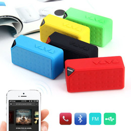 portable mini square speaker Canada - Promotion X3 cube square Bluetooth wireless speaker Radio FM TF USB sound box with Mic enceinte bluetooth portable puissant 2017