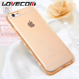 cz phone NZ - CZ Diamond Crystal Frame Soft TPU Transparent Phone Back Cover Cases For iPhone 7 For iPhone 5 5S SE 6 6S 7 Plus Capa Fundas NEW