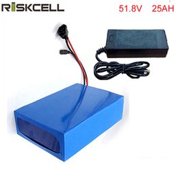 Battery Bicycle Kit Canada - ebike lithium battery 51.8v 25ah lithium ion bicycle 52v electric scooter battery for kit electric bike 1500w with BMS , Charger