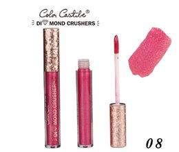 gold glitter lipstick 2019 - 16color Color Castle New diamond flash powder lip gloss lip gloss Glittering gold diamond liquid lipstick 120pcs cheap g