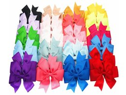 baby girl barrettes UK - Toddler Baby Girls 4 inch Ribbon Hair Bows With Alligator Clips Hair Accessories 30 pces