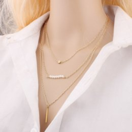$enCountryForm.capitalKeyWord Canada - 2017 Hot Style Wholesale High Quality Multi Layer Alloy Seven Pearls Gold Necklace Fashion Jewelry Gift