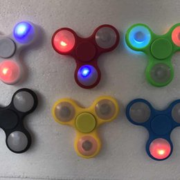 $enCountryForm.capitalKeyWord Canada - Factory Price! Lighting up Hand Spinners LED Bright Fidget Spinner Triangle Finger Spinner Colorful light Decompression Fingers Tip Tops Toy