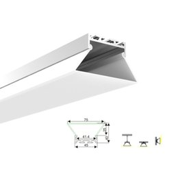 profile for led strips Canada - 10 X 1M sets lot U type aluminum profiles for led lighting and anodized aluminum led strip fixture channel for ceiling wall lamps