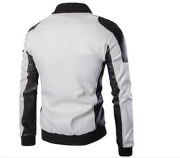 Осенний зимний искусственный меховой воротник PU кожаный куртка Мужчины Толстые теплые бархатные мужские куртки пальто Vintage Мужчины повседневный мотоцикл