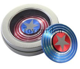 Chinese  wholesale new Captain America 3D Fidget Hand Spinner Shield Toy EDC Focus ADHD Autism Adult Listed for charity manufacturers