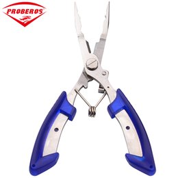 Lure Pliers UK - Stainless Steel Lure Fishing Pliers Scissors Line Cutter Remove Hook Fishing Tackle Tool with Nylon Bag