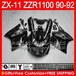 $enCountryForm.capitalKeyWord Australia - 8Gifts 23Colors For KAWASAKI NINJA ZX11 ZX11R 90 91 92 ZZR 1100 21NO88 gloss black ZX 11 11R ZZR1100 ZX-11R ZX-11 1990 1991 1992 Fairing Kit