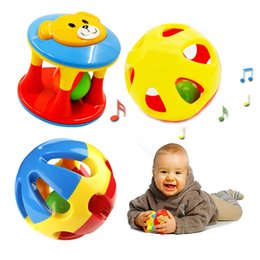 $enCountryForm.capitalKeyWord NZ - 2PCS Funny Baby Toddle Rattles Music Animals Cartoon Bear Hand Shake Bell Ring Early Learning Educational Musical Safe Toys