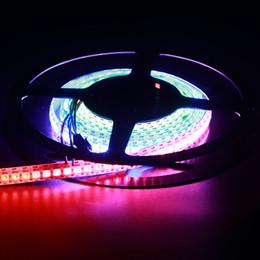 Light Strip Color Australia - 144 leds ws2812b ws2811 led strip waterproof 5050 smd ws2812 digital rgb pixel light white flexible pcb 5v addressable smart color tape lamp