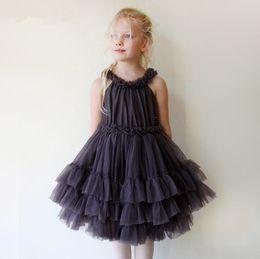 $enCountryForm.capitalKeyWord Australia - Kids Girls Lace Dress Baby Girls Tulle Party Dresses Infant Princess Sleeveless TuTu Dress 2017 Summer Children Boutique Clothes B484
